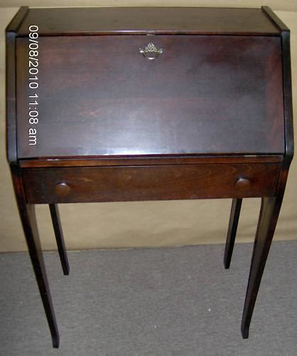 Vintage Small Mahogany Dropfront Secretary Desk For Sale Small Antique Desks