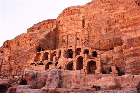 and stone city petra city carved in stone nabateans in its heyday only