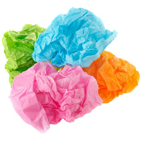 With Tissue Paper - coloured tissue paper