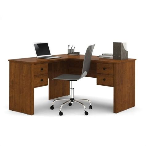 Computer Desk Brown Bestar Somerville L Shaped Tuscany Brown Computer Desk Ebay