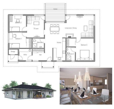 affordable open floor plans small affordable house plan three bedrooms open planning