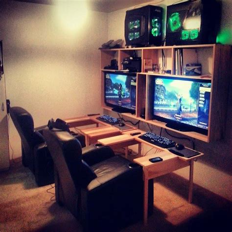 gaming room setup 17 best images about battlestations on pinterest