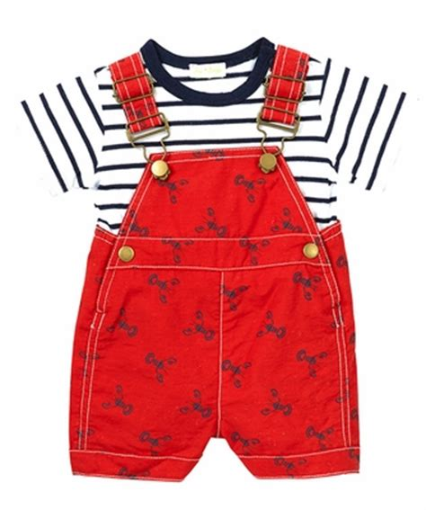 Blue Shirt Navy Overall Cs0610 le top infant boys navy blue lobsters overall with