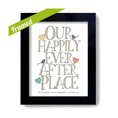unique housewarming gifts housewarming gift framed personalized art print happily