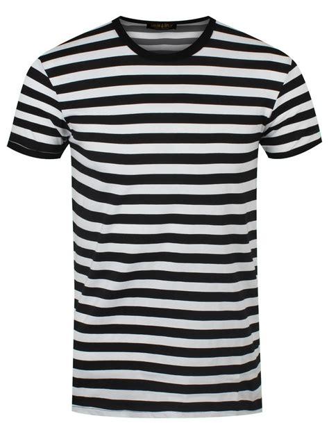 Black And White Shirt New Black And White Striped T Shirt Ebay