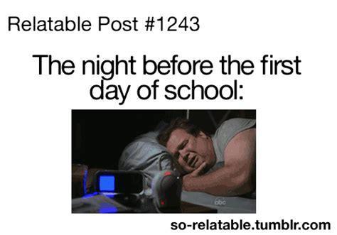 First Day Of School Funny Memes - school via tumblr animated gif 2165276 by ksenia l on