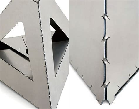Steel Origami - sheet metal origami cuts on energy materials