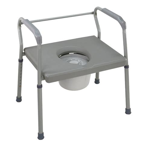 bed side commode drive steel drop arm bedside commode with padded seat and