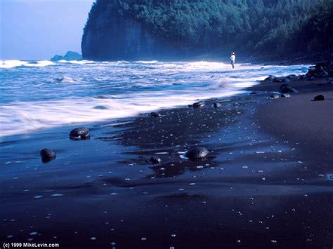 black sand beach hawaii mike levin s photo gallery hawaii photos