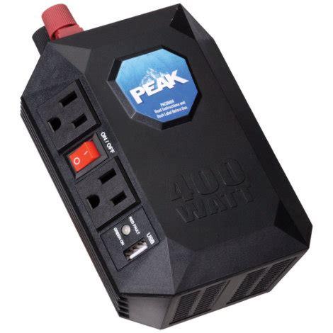 Visero Power Inverter 400 Watt peak 400 watt power inverter by peak at mills fleet farm