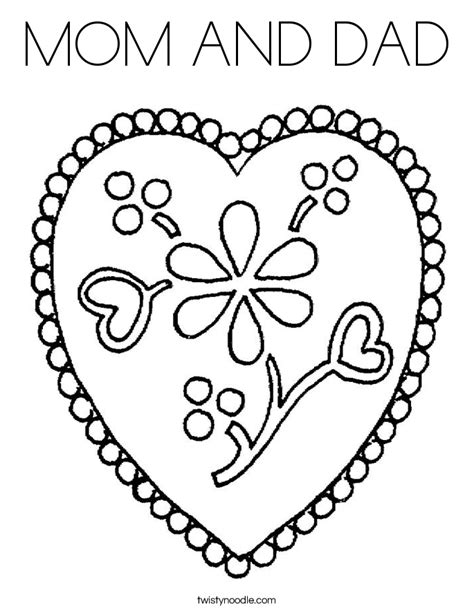 christmas coloring pages for your mom and dad mom and dad coloring page twisty noodle