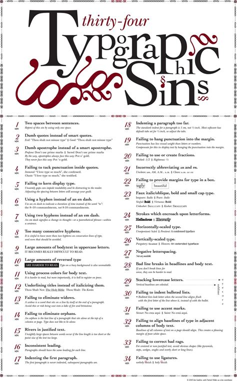 typography guidelines 34 sins of typography mgpcpastor s