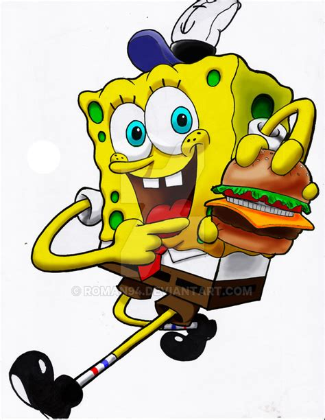 spongebob colored patties spongebob and krabby patty by roman94 on deviantart