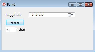 delphi oracle tutorial tutorial delphi membuat aplikasi penghitung umur