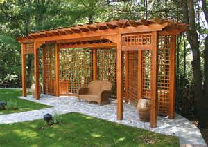 Landscape Pergola by Traditional Post And Bracket Pergolas Traditional