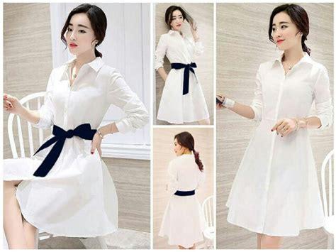 Baju Korea Murah Dress Cantik baju mini dress wanita dewasa warna putih cantik dan murah