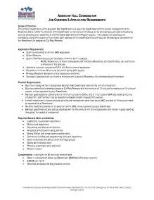 Cover Letter For Resident Assistant by Resident Assistant Position Cover Letter
