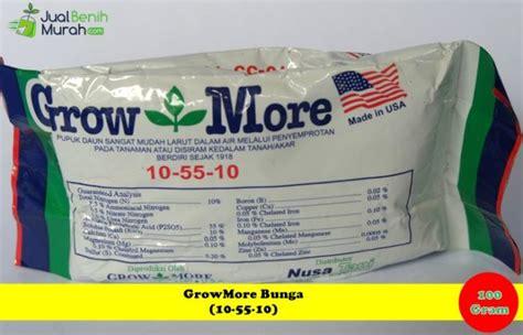 Pupuk Growmore Untuk Padi pupuk growmore bunga 10 55 10 100 gram jualbenihmurah