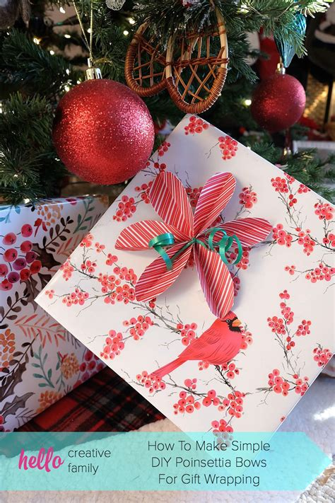 easy christmas gifts to make how to make simple diy poinsettia bows