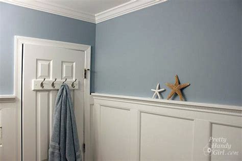 themed bathroom with board batten moulding 183 more info