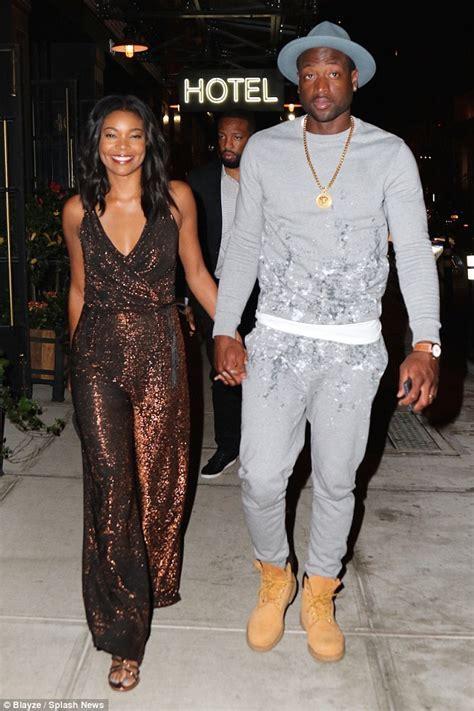 Gabrielle Union and boyfriend Dwayne Wade enjoy a date