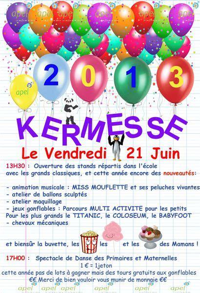 Modele De Lettre Kermesse Modele Affiche De Kermesse 224 T 233 L 233 Charger