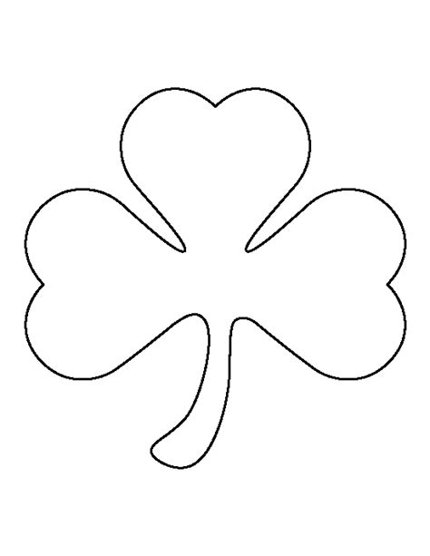 printable shamrock template large shamrock pattern use the printable outline for