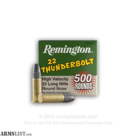 remington thunderbolt 22 ammo armslist for sale 6 000 rounds 22lr remington thunderbolt