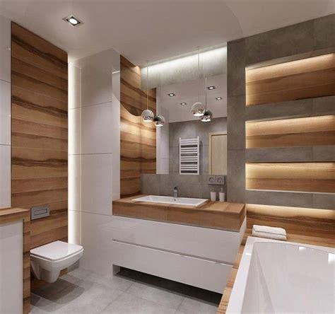 rustikale badezimmerbeleuchtung indirekte beleuchtung und hochglanz oberfl 228 chen im kleinen