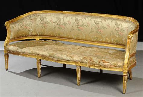 divano luigi xvi divano luigi xvi in legno dorato ed intagliato xviii