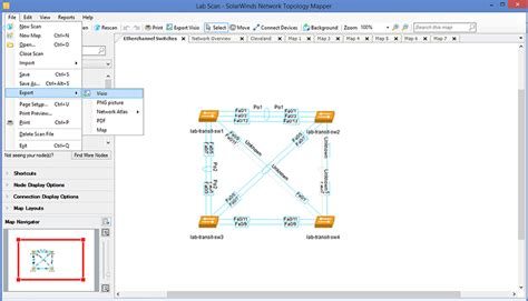 visio export solarwinds network topology mapper solution