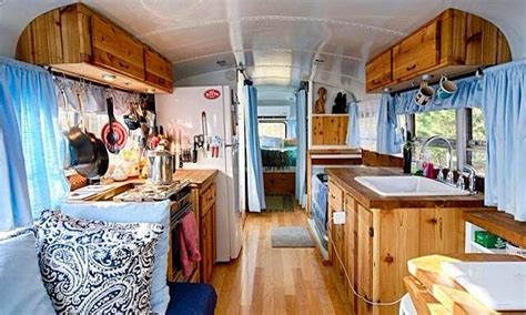 Tiney House Plans by Couple Renovated Bus Into A Home Just Right For