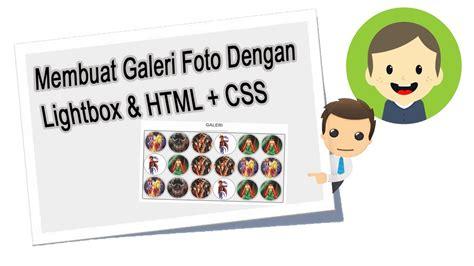 membuat blog galeri foto membuat galeri foto dengan lightbox youtube