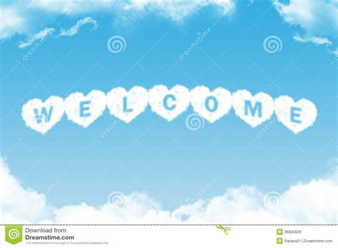 welcome cloud word royalty free stock photos image