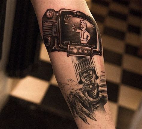 pip boy tattoo the best fallout tattoos