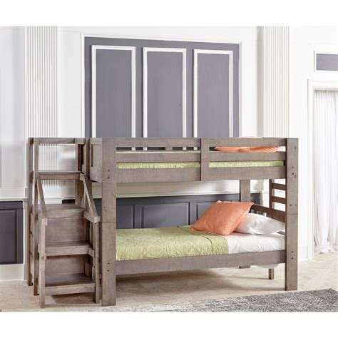 oak furniture west bedroom groups twin bunkbed  staircase mattress set