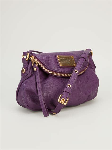 Marc By Marc Poppy Shoulder Bag by Lyst Marc By Marc Mini Shoulder Bag In Purple