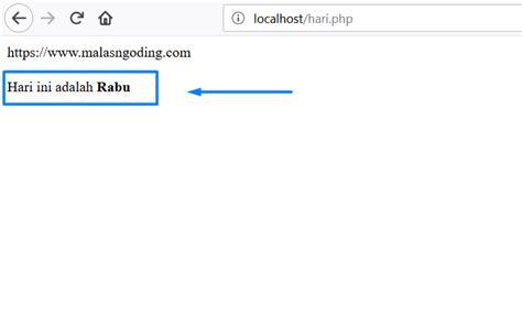 Format Tanggal Php | membuat format hari indonesia pada php malas ngoding
