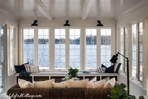 Sun Room In House Lake House Sunroom It S Done The Lilypad Cottage