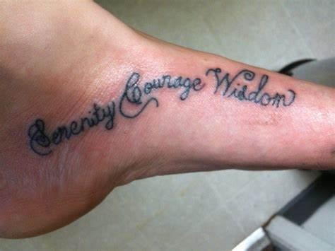 god grant me the serenity tattoo foot inspired by the quote quot god grant me the