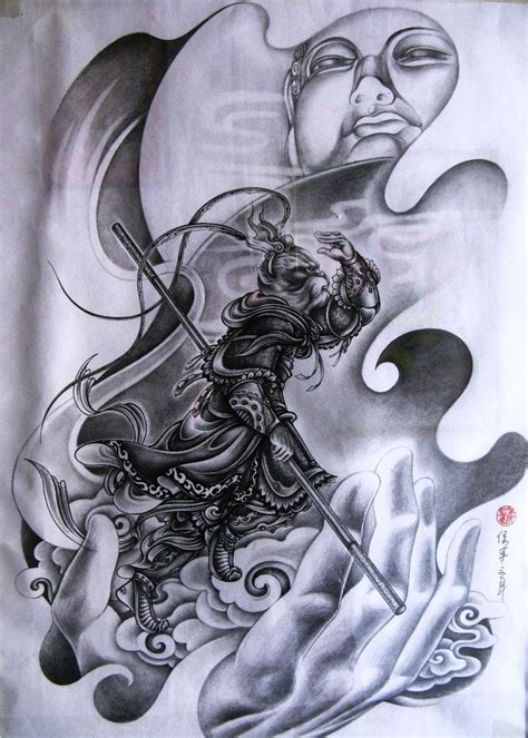 chinese monkey tattoo designs buddha and monkey king amazing artwork