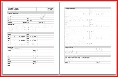 design application form word application template word apa exle