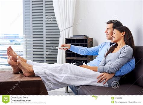 watch tv couch watching tv stock photo image 29709120