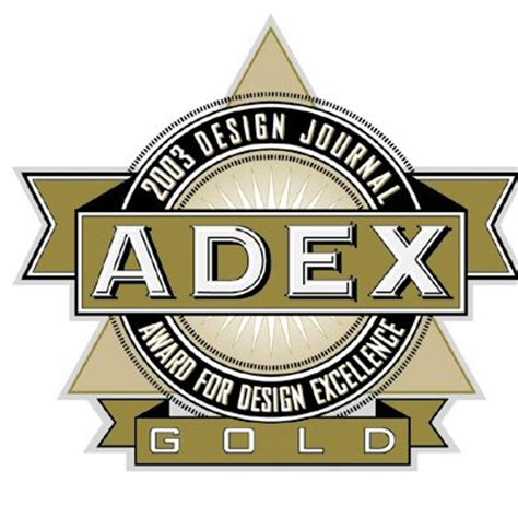 design journal adex awards press releases adex 2003 gold award