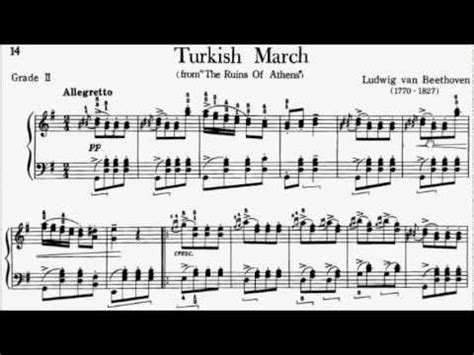tutorial piano turkish march piano pieces for children grade 2 no 2 beethoven op 113