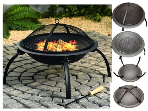 Bbq Barbeque Charcoal Burner Grill Firepit Steel Outdoor Firepit Burner