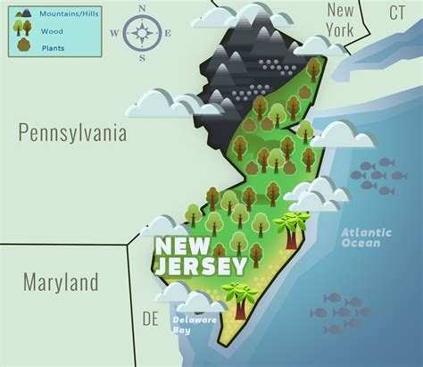 map of new jersey in colonial times new jersey nj state information