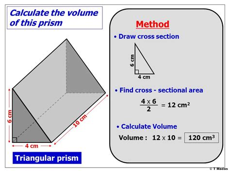 cross section of a triangular prism 169 t madas ppt download