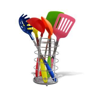 Multi Kithcen Set ragalta 7 pc multi color kitchen utensil set with caddy