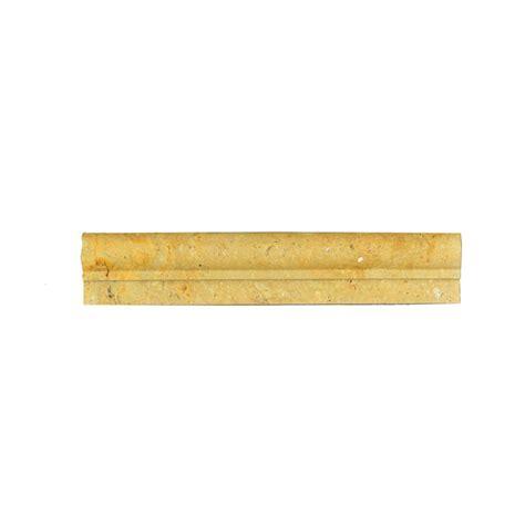 gold travertine chair rail ogee 1 molding